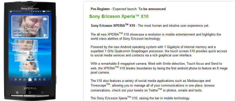 xperia-x10-release-to-be-announced