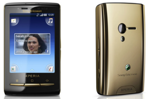 sony ericsson xperia x10 mini gold. is a gold Xperia X10 Mini.